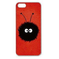 Red Cute Dazzled Bug Apple Seamless Iphone 5 Case (clear)