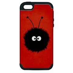 Red Cute Dazzled Bug Apple iPhone 5 Hardshell Case (PC+Silicone)