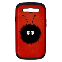 Red Cute Dazzled Bug Samsung Galaxy S Iii Hardshell Case (pc+silicone)
