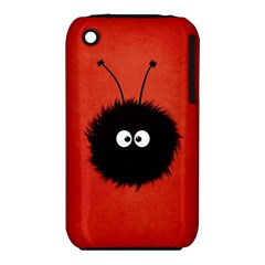 Red Cute Dazzled Bug Apple Iphone 3g/3gs Hardshell Case (pc+silicone)