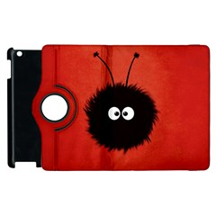 Red Cute Dazzled Bug Apple Ipad 3/4 Flip 360 Case
