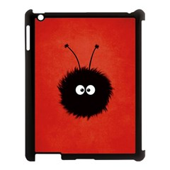 Red Cute Dazzled Bug Apple iPad 3/4 Case (Black)