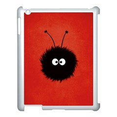 Red Cute Dazzled Bug Apple iPad 3/4 Case (White)