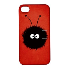 Red Cute Dazzled Bug Apple Iphone 4/4s Hardshell Case With Stand