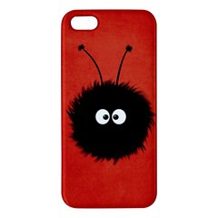 Red Cute Dazzled Bug Apple Iphone 5 Premium Hardshell Case
