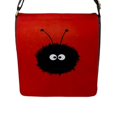 Red Cute Dazzled Bug Flap Closure Messenger Bag (Large)
