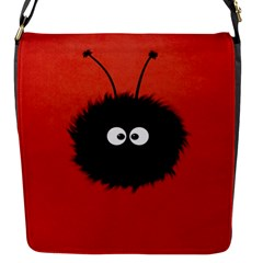 Red Cute Dazzled Bug Flap Closure Messenger Bag (small)