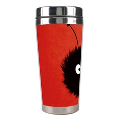 Red Cute Dazzled Bug Stainless Steel Travel Tumbler