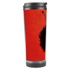 Red Cute Dazzled Bug Travel Tumbler
