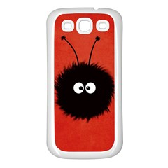 Red Cute Dazzled Bug Samsung Galaxy S3 Back Case (White)