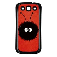 Red Cute Dazzled Bug Samsung Galaxy S3 Back Case (Black)