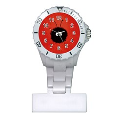 Red Cute Dazzled Bug Nurses Watch