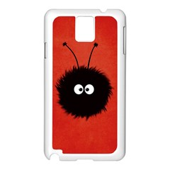 Red Cute Dazzled Bug Samsung Galaxy Note 3 N9005 Case (White)