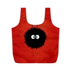 Red Cute Dazzled Bug Reusable Bag (m)