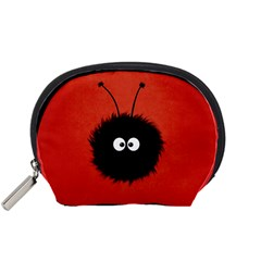 Red Cute Dazzled Bug Accessories Pouch (Small)