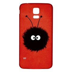 Red Cute Dazzled Bug Samsung Galaxy S5 Back Case (white)
