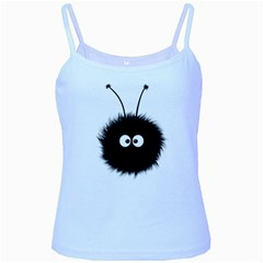 Cute Dazzled Bug Baby Blue Spaghetti Tank