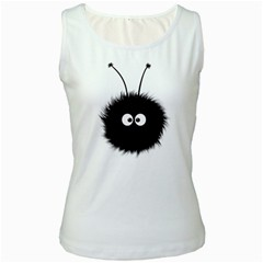 Cute Dazzled Bug Women s Tank Top (White)