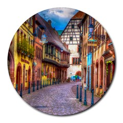 Alsace France 8  Mouse Pad (round)