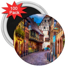 Alsace France 3  Button Magnet (100 pack)