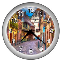 Alsace France Wall Clock (silver)