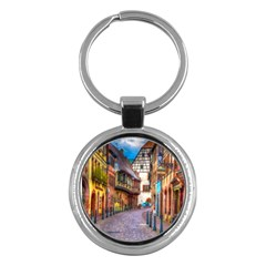 Alsace France Key Chain (Round)