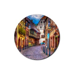 Alsace France Drink Coasters 4 Pack (Round)