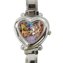 Alsace France Heart Italian Charm Watch