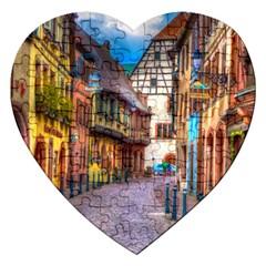 Alsace France Jigsaw Puzzle (heart)
