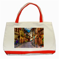 Alsace France Classic Tote Bag (Red)