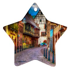 Alsace France Star Ornament (two Sides)