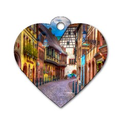 Alsace France Dog Tag Heart (One Sided)