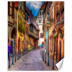 Alsace France Canvas 11  x 14  (Unframed)