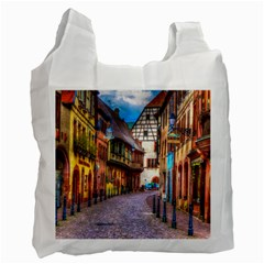Alsace France White Reusable Bag (two Sides)