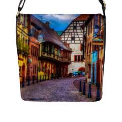 Alsace France Flap Closure Messenger Bag (large)
