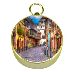 Alsace France Gold Compass
