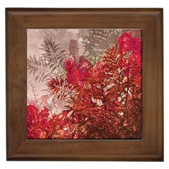 Decorative Flowers Collage Framed Ceramic Tile