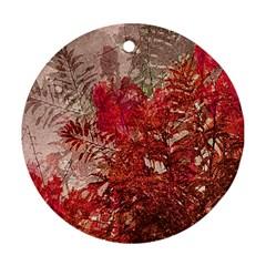 Decorative Flowers Collage Round Ornament