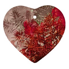 Decorative Flowers Collage Heart Ornament