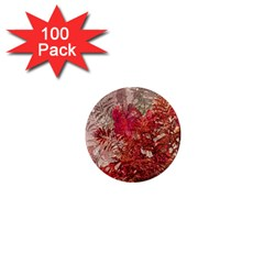 Decorative Flowers Collage 1  Mini Button Magnet (100 Pack)