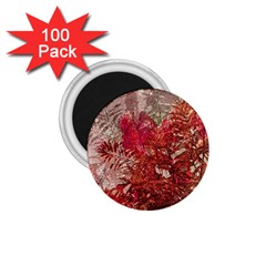 Decorative Flowers Collage 1.75  Button Magnet (100 pack)
