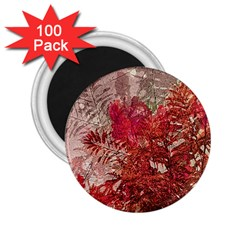 Decorative Flowers Collage 2 25  Button Magnet (100 Pack)