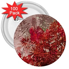 Decorative Flowers Collage 3  Button (100 pack)
