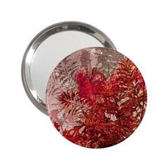Decorative Flowers Collage Handbag Mirror (2.25 )