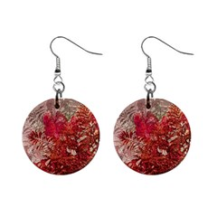Decorative Flowers Collage Mini Button Earrings
