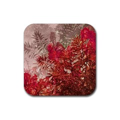 Decorative Flowers Collage Drink Coaster (square)