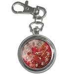 Decorative Flowers Collage Key Chain Watch Front