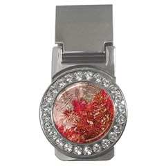Decorative Flowers Collage Money Clip (cz)
