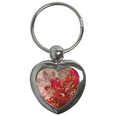 Decorative Flowers Collage Key Chain (Heart)