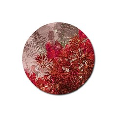 Decorative Flowers Collage Drink Coaster (Round)